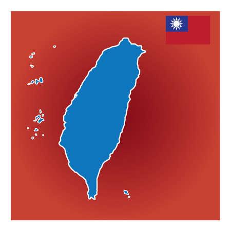 taiwan map design Stok Fotoğraf - 79217220