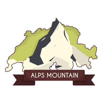 alps mountain in switzerland Illustration
