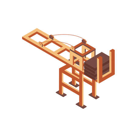 isometric container crane Stock Vector - 79157954
