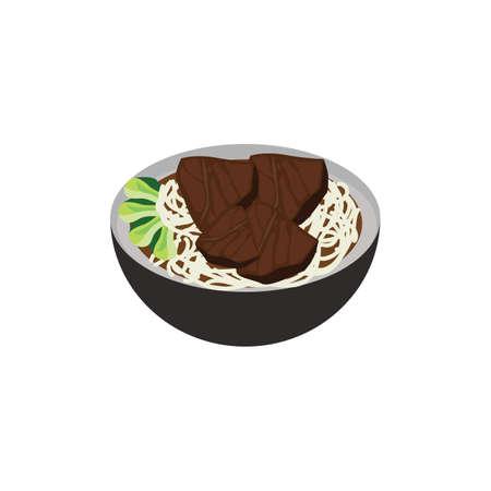 beef noodles Illusztráció