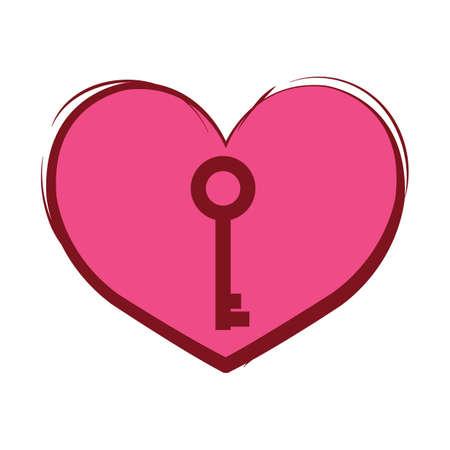 마음과 열쇠 일러스트