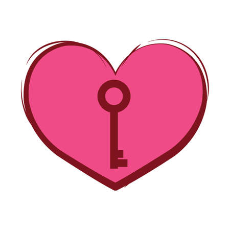 heart and key Illustration