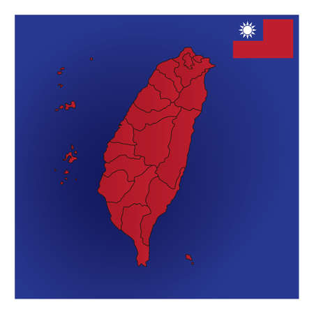 taiwan map design Stok Fotoğraf - 79217253