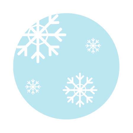 Flocons de neige icône Banque d'images - 79167857