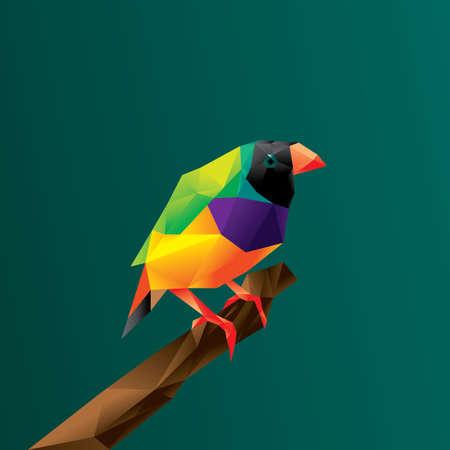 Vogel op boomtak