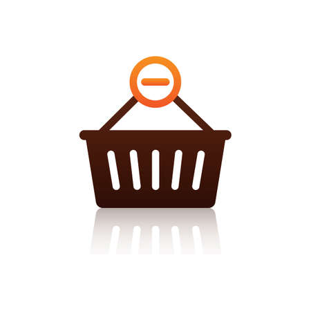 minus item from shopping basket symbol