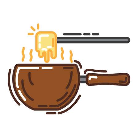 La fondue au fromage Banque d'images - 79217164