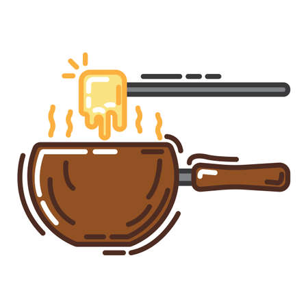 cheese fondue Illustration