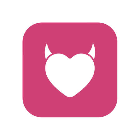 heart with horns design