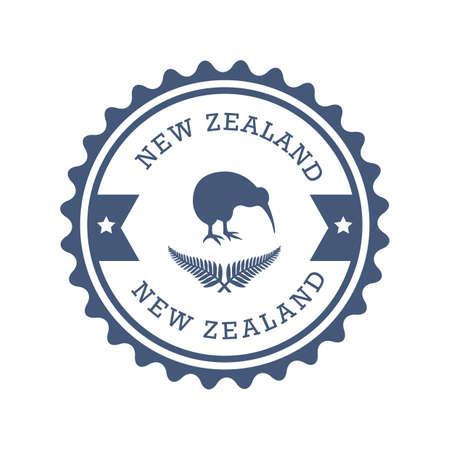 뉴질랜드 레이블 디자인 일러스트