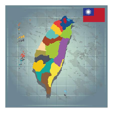 taiwan map design
