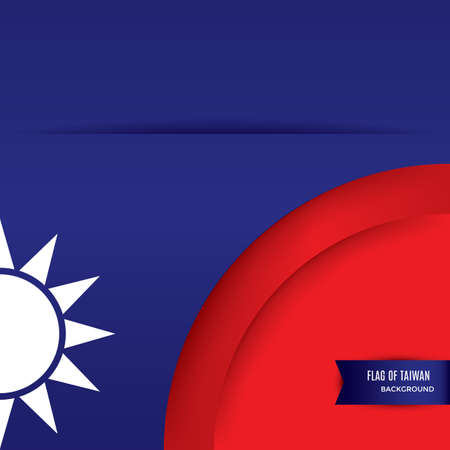 taiwan flag background design Stok Fotoğraf - 79217263