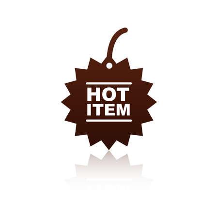 hot item label design