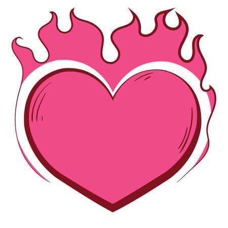 heart on fire Çizim
