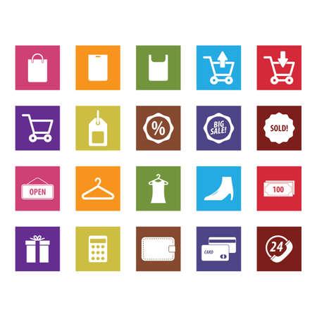 set of shopping icons