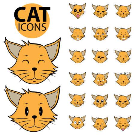 猫のアイコン  イラスト・ベクター素材