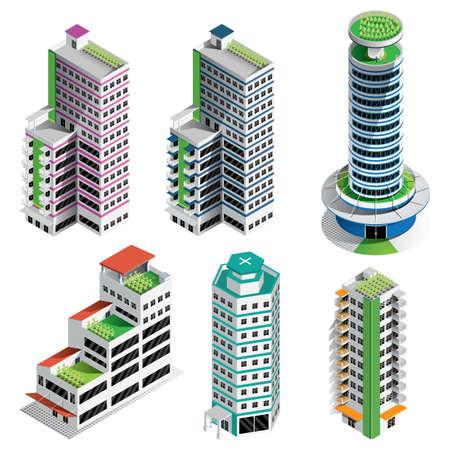 等尺性の建物のコレクション