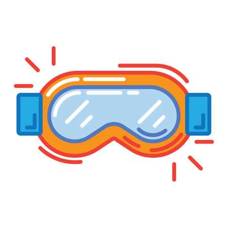Ski goggles Stock Vector - 79168354