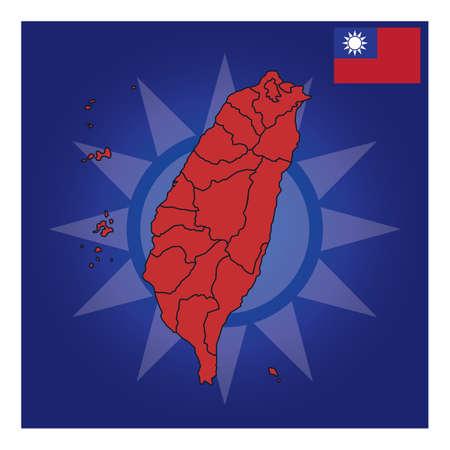 taiwan map design Stok Fotoğraf - 79217310