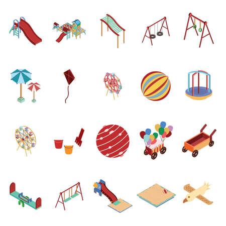 Set van isometrische pictogrammen Stock Illustratie
