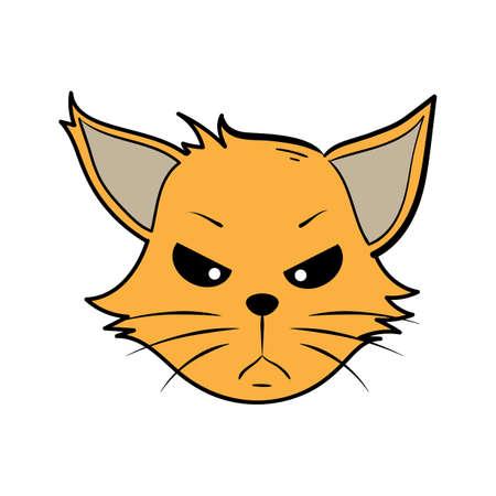 cartoon cat mad Illustration