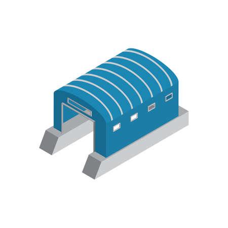 Isometric boat hangar