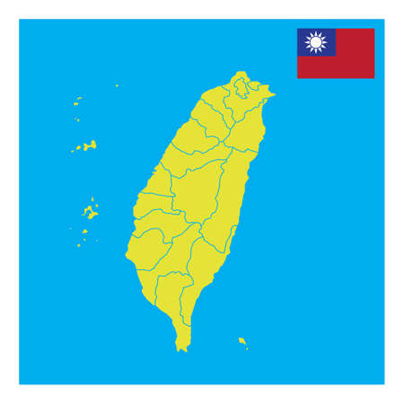 taiwan map design Stock fotó - 79217347