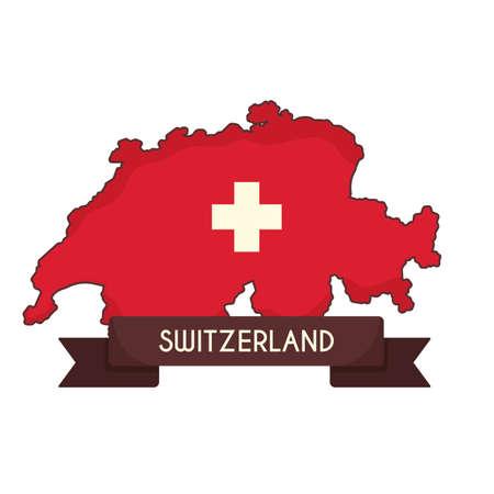 Kaart van Zwitserland Stock Illustratie