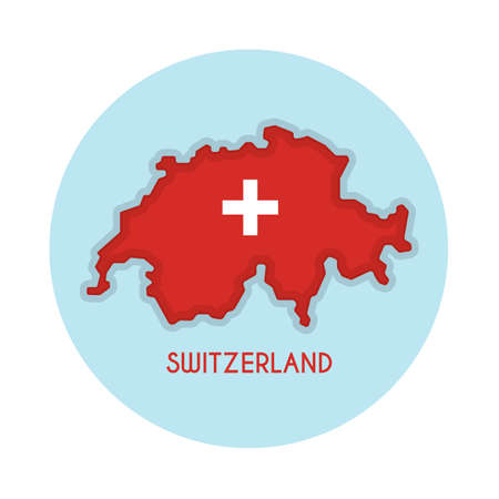 switzerland map Illustration