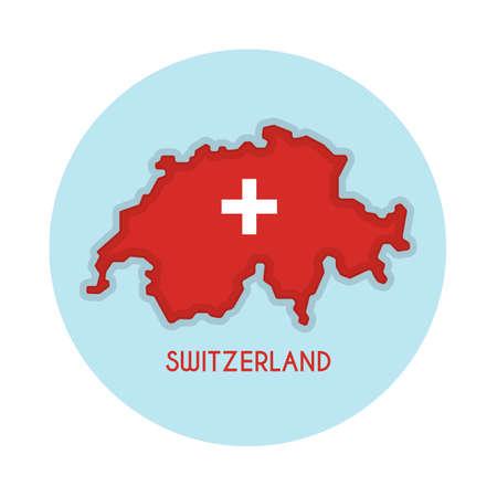 switzerland map Ilustracja