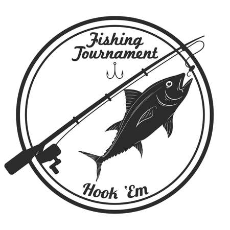 fishing tournament label