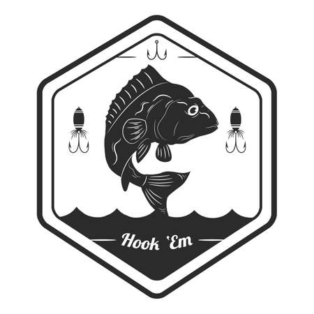 Fischerei-Label Vektorgrafik