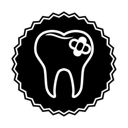tand met verband Stock Illustratie