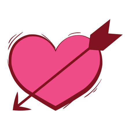 heart and arrow 向量圖像