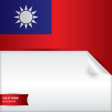 taiwan flag background design Illustration