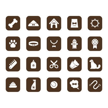 set of dog icons Illustration
