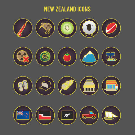 set of new zealand icons