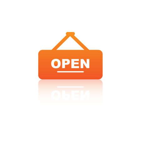 open sign Çizim