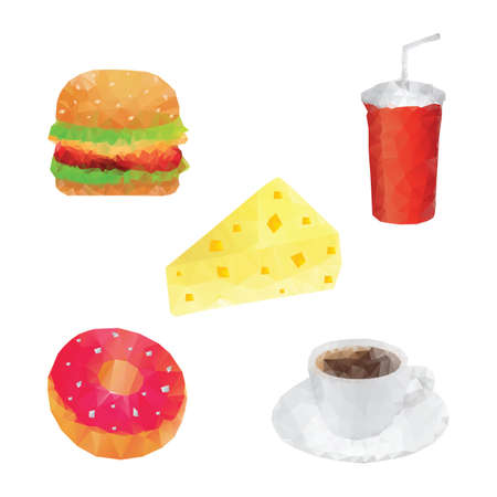 set of food icons Stock Vector - 79217629