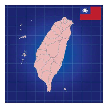 taiwan map design Stok Fotoğraf - 79217409