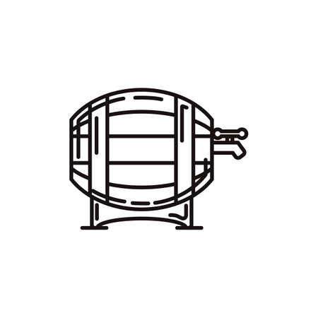 german beer barrel Illustration