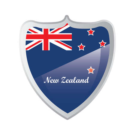 new zealand button design Illustration