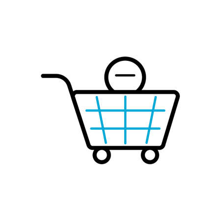 minus item from shopping cart symbol