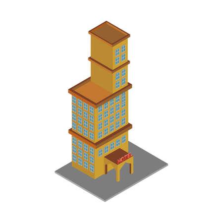 等尺性ホテルの建物