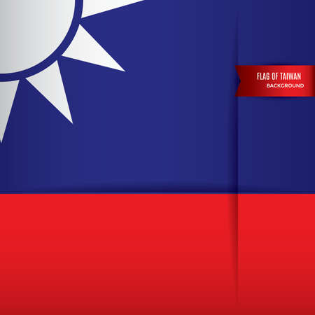 taiwan flag background design Çizim