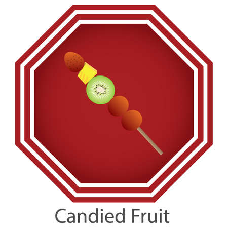 candied fruit Illustration