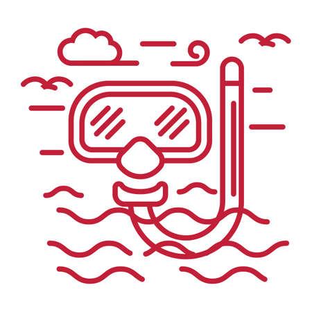 スキューバ ダイビングのマスク  イラスト・ベクター素材