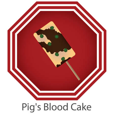 pigs blood cake Illustration