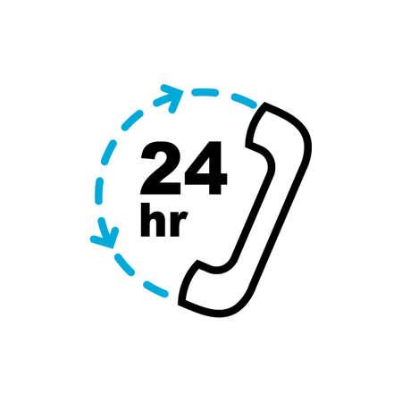 24 시간 고객 서비스 아이콘 일러스트