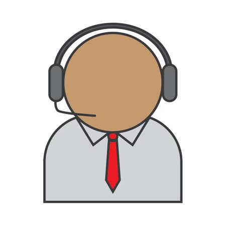 customer service operator Иллюстрация